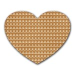 Gingerbread Christmas Heart Mousepads Front
