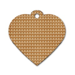 Gingerbread Christmas Dog Tag Heart (One Side)