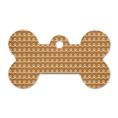Gingerbread Christmas Dog Tag Bone (One Side)