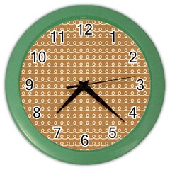 Gingerbread Christmas Color Wall Clock