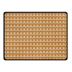 Gingerbread Christmas Fleece Blanket (Small)