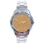 Gingerbread Christmas Stainless Steel Analogue Watch Front