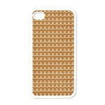 Gingerbread Christmas Apple iPhone 4 Case (White) Front