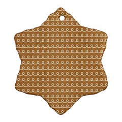 Gingerbread Christmas Snowflake Ornament (Two Sides)