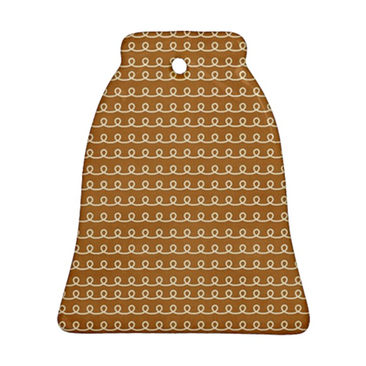 Gingerbread Christmas Bell Ornament (Two Sides)