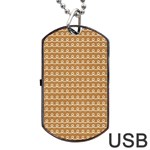Gingerbread Christmas Dog Tag USB Flash (One Side) Front