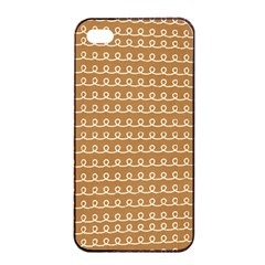 Gingerbread Christmas Apple iPhone 4/4s Seamless Case (Black)