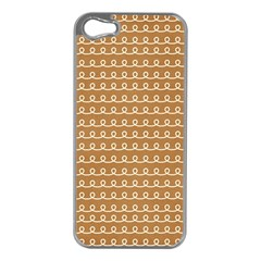 Gingerbread Christmas Apple iPhone 5 Case (Silver)