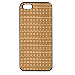 Gingerbread Christmas Apple iPhone 5 Seamless Case (Black) Front