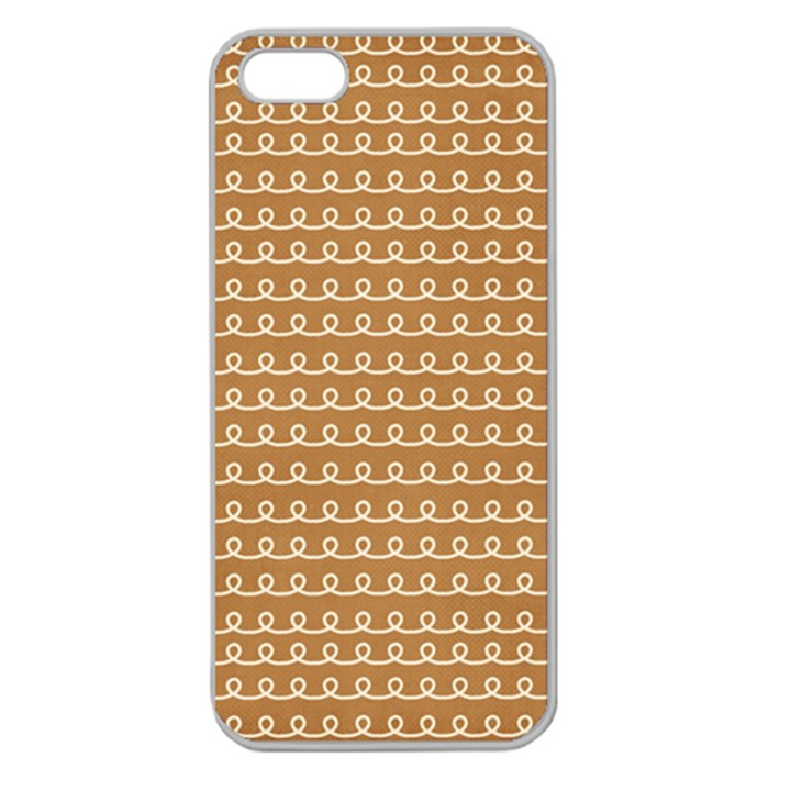 Gingerbread Christmas Apple Seamless iPhone 5 Case (Clear)