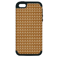 Gingerbread Christmas Apple Iphone 5 Hardshell Case (pc+silicone)