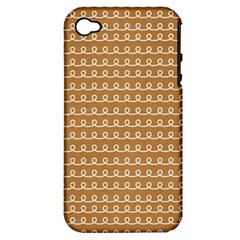 Gingerbread Christmas Apple iPhone 4/4S Hardshell Case (PC+Silicone)