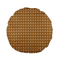 Gingerbread Christmas Standard 15  Premium Round Cushions