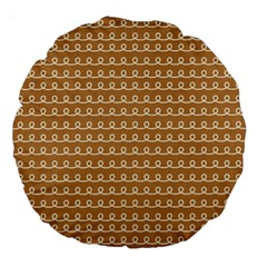 Gingerbread Christmas Large 18  Premium Round Cushions