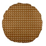 Gingerbread Christmas Large 18  Premium Round Cushions Back