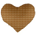 Gingerbread Christmas Large 19  Premium Heart Shape Cushions Back