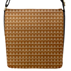 Gingerbread Christmas Flap Closure Messenger Bag (S)