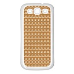 Gingerbread Christmas Samsung Galaxy S3 Back Case (White) Front