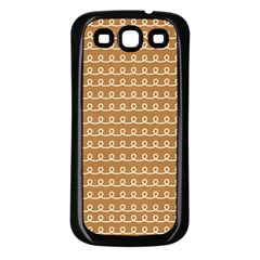 Gingerbread Christmas Samsung Galaxy S3 Back Case (Black)