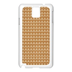 Gingerbread Christmas Samsung Galaxy Note 3 N9005 Case (White)