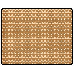 Gingerbread Christmas Double Sided Fleece Blanket (Medium)