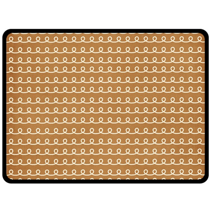 Gingerbread Christmas Double Sided Fleece Blanket (Large)