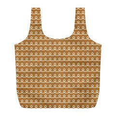 Gingerbread Christmas Full Print Recycle Bag (L)
