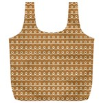 Gingerbread Christmas Full Print Recycle Bag (XL) Back