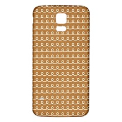 Gingerbread Christmas Samsung Galaxy S5 Back Case (White)