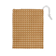 Gingerbread Christmas Drawstring Pouch (Large)
