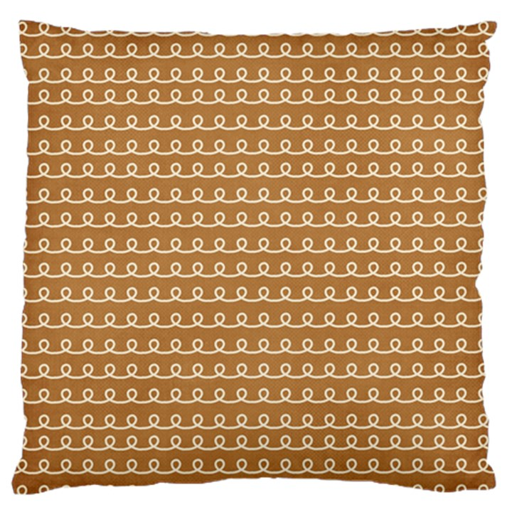 Gingerbread Christmas Standard Flano Cushion Case (Two Sides)
