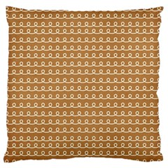 Gingerbread Christmas Large Flano Cushion Case (One Side)