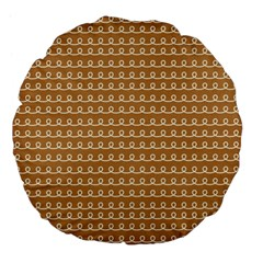 Gingerbread Christmas Large 18  Premium Flano Round Cushions