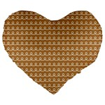 Gingerbread Christmas Large 19  Premium Flano Heart Shape Cushions Front