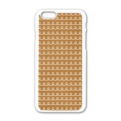 Gingerbread Christmas Apple iPhone 6/6S White Enamel Case