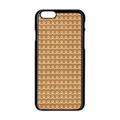 Gingerbread Christmas Apple iPhone 6/6S Black Enamel Case