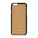 Gingerbread Christmas Apple iPhone 6/6S Black Enamel Case Front