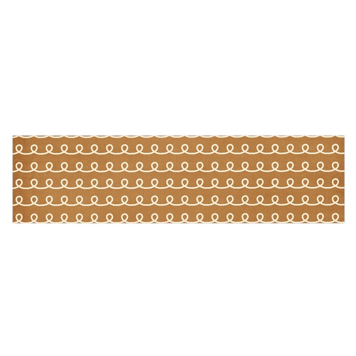 Gingerbread Christmas Satin Scarf (Oblong)