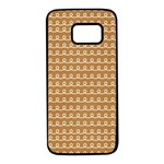 Gingerbread Christmas Samsung Galaxy S7 Black Seamless Case Front