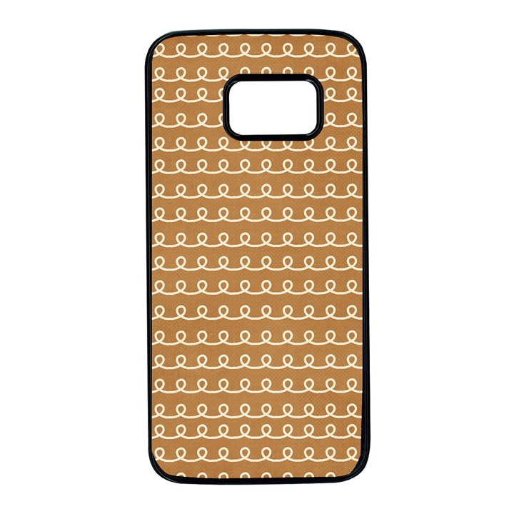 Gingerbread Christmas Samsung Galaxy S7 Black Seamless Case