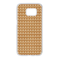 Gingerbread Christmas Samsung Galaxy S7 edge White Seamless Case