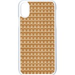 Gingerbread Christmas Apple iPhone X Seamless Case (White) Front