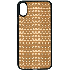 Gingerbread Christmas Apple iPhone X Seamless Case (Black)
