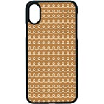 Gingerbread Christmas Apple iPhone X Seamless Case (Black) Front