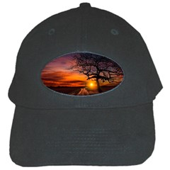 Lonely Tree Sunset Wallpaper Black Cap