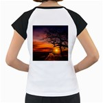 Lonely Tree Sunset Wallpaper Women s Cap Sleeve T Back