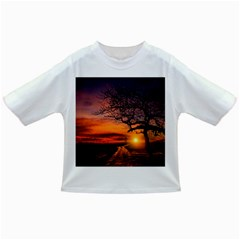 Lonely Tree Sunset Wallpaper Infant/toddler T Shirts