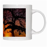 Lonely Tree Sunset Wallpaper White Mugs Right