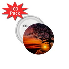 Lonely Tree Sunset Wallpaper 1.75  Buttons (100 pack)