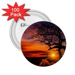 Lonely Tree Sunset Wallpaper 2.25  Buttons (100 pack)  Front